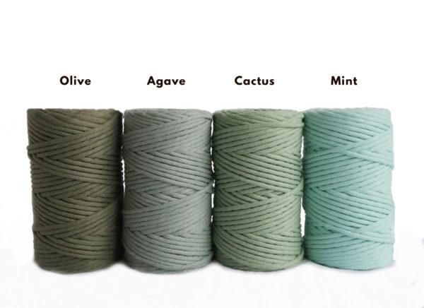 green cotton cord
